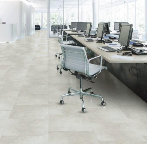 PVC flooring / strip / smooth / wood look